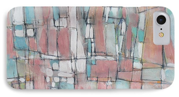 City In Peach And Turquoise Phone Case by Hari Thomas