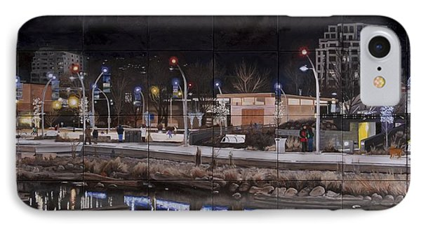 IPhone Case featuring the painting City Lights by Bonnie Heather