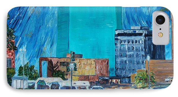 IPhone Case featuring the painting City Lights by Ellen Anthony