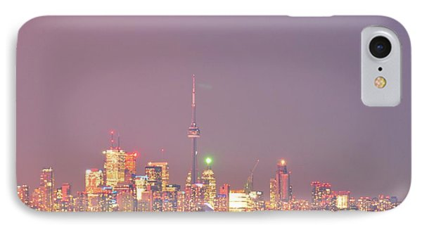 City Lights Glimmer Over Open Water  IPhone Case by Puzzles Shum