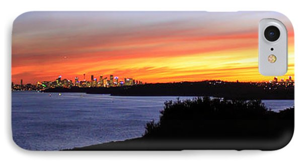 IPhone 7 Case featuring the photograph City Lights In The Sunset by Miroslava Jurcik