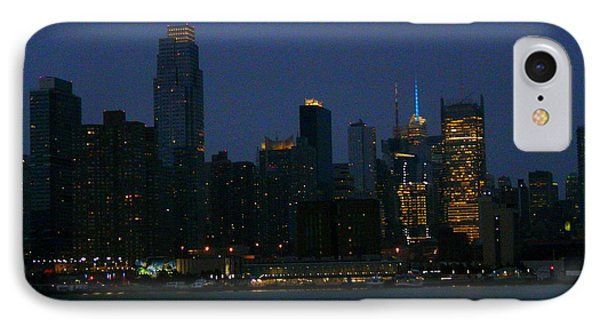 City Lights Of New York Phone Case by Avis  Noelle