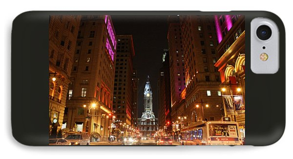 IPhone Case featuring the photograph Philadelphia City Lights by Christopher Woods