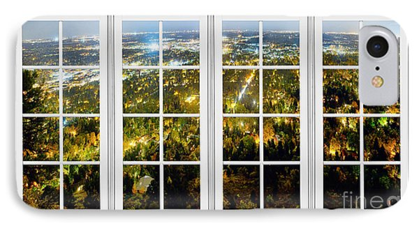 City Lights White Window Frame View Phone Case by James BO  Insogna