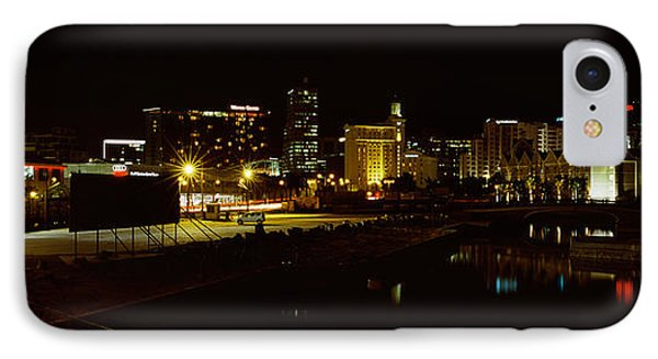 City Lit Up At Night, Cape Town IPhone Case by Panoramic Images