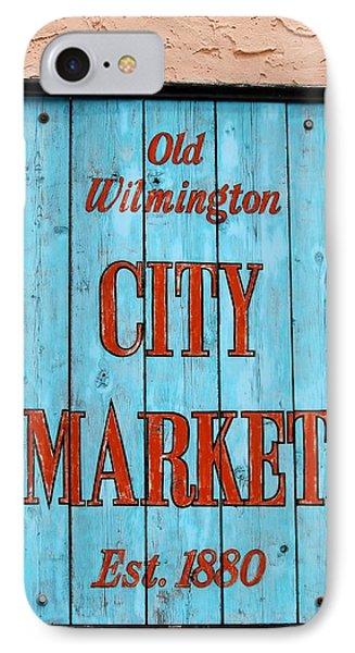 City Market Sign Phone Case by Cynthia Guinn