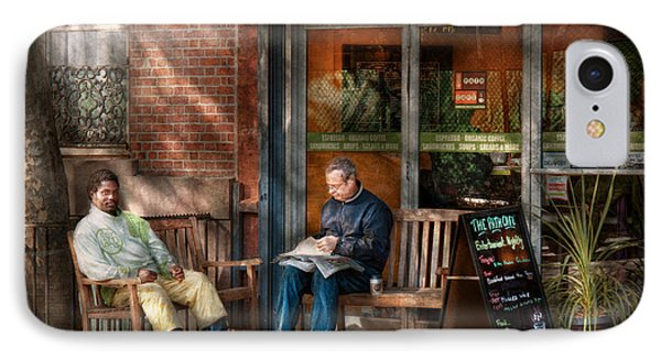 City - New York - Greenwich Village - The Path Cafe  Phone Case by Mike Savad