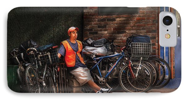 City - Ny - Waiting For The Next Delivery Phone Case by Mike Savad