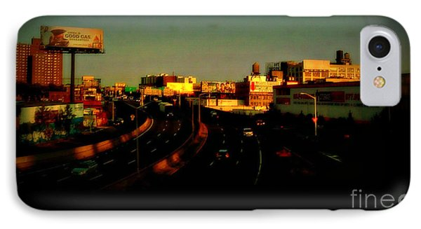 IPhone Case featuring the photograph City Of Gold - New York City Sunset With Water Towers by Miriam Danar