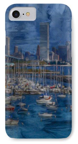 City Of Milwaukee Along Lake Michigan Phone Case by Jack Zulli