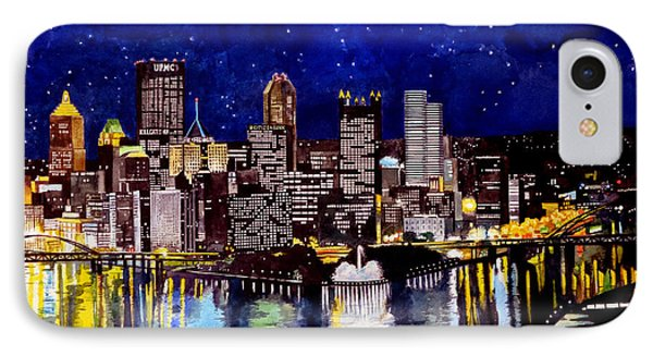 City Of Pittsburgh At The Point Phone Case by Christopher Shellhammer