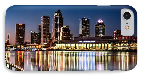 City Of Tampa Skyline  IPhone Case by Michael White