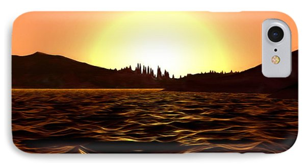 IPhone Case featuring the painting City Of The Sun by Pet Serrano