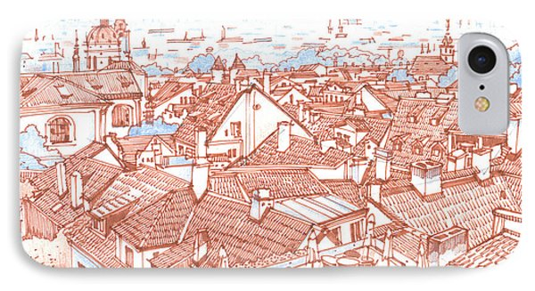 City. Prague IPhone Case by Olga Sorokina