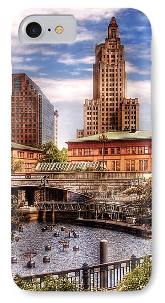 City - Providence Ri - The Skyline Phone Case by Mike Savad