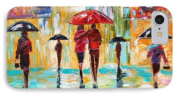 City Rain Phone Case by Karen Tarlton