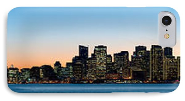 City Skyline And A Bridge At Dusk, Bay IPhone Case by Panoramic Images