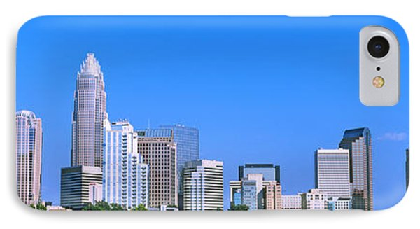 City Skyline, Charlotte, Mecklenburg IPhone Case by Panoramic Images