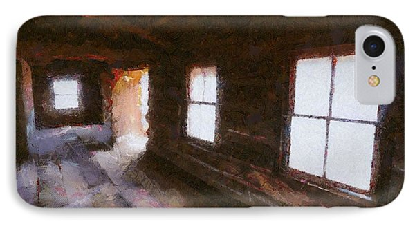 IPhone Case featuring the digital art Cabin At Ghost Ranch by Carrie OBrien Sibley