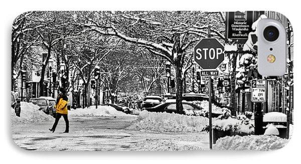 City Snowstorm IPhone Case by Deborah Klubertanz