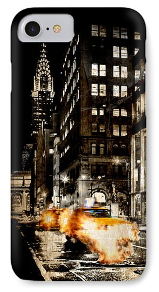Chrysler Building iPhone 7 Case - City Streets  by Az Jackson