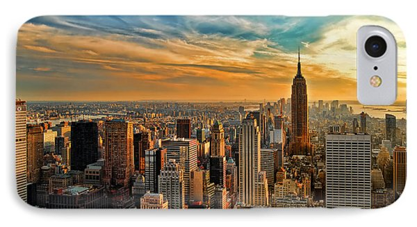City Sunset New York City Usa IPhone Case