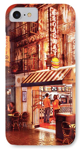 City - Vegas - Ny - Broadway Burger Phone Case by Mike Savad