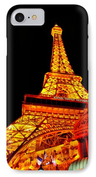 City - Vegas - Paris - Eiffel Tower Restaurant IPhone Case by Mike Savad