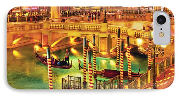City - Vegas - Venetian - The Venetian At Night Phone Case by Mike Savad
