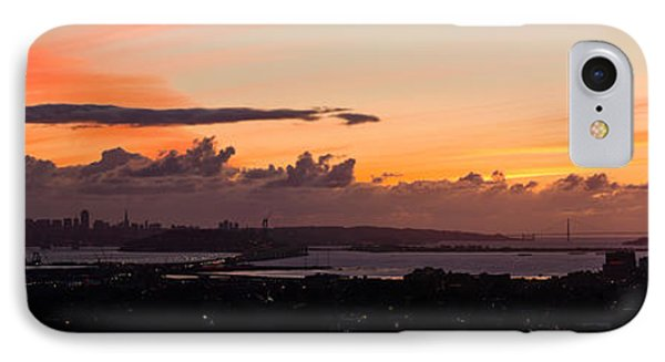 City View At Dusk, Emeryville, Oakland IPhone Case by Panoramic Images