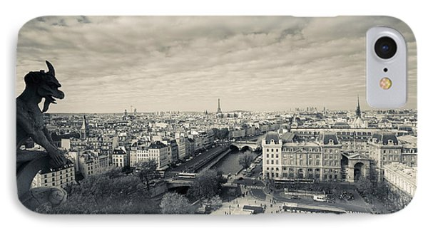 City Viewed From The Notre Dame IPhone Case by Panoramic Images