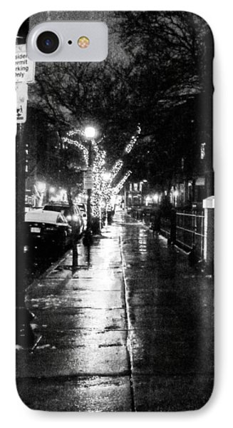 IPhone Case featuring the photograph City Walk In The Rain by Mike Ste Marie
