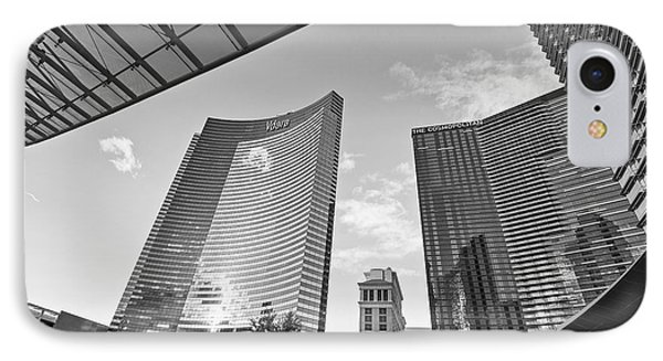 Citycenter - View Of The Vdara Hotel And Spa Located In Citycenter In Las Vegas  IPhone Case by Jamie Pham