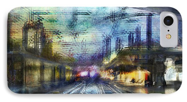 Cityscape #37 - Crossing Lines IPhone Case by Alfredo Gonzalez