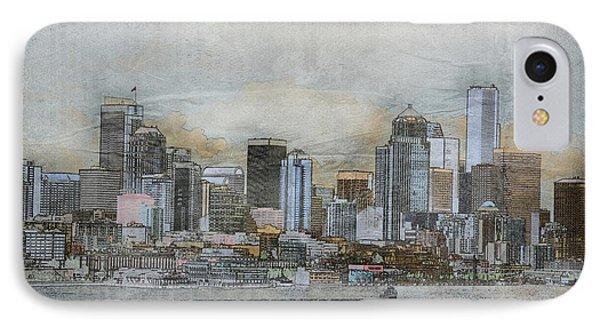 IPhone Case featuring the digital art Cityscape by Davina Washington