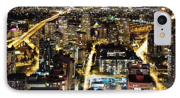 IPhone Case featuring the photograph Cityscape Golden Burrard Bridge Mdlxiv by Amyn Nasser