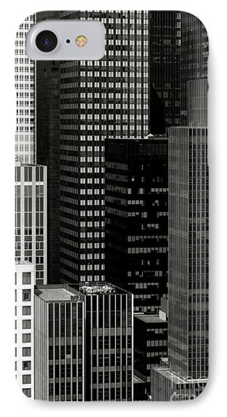 Cityscape In Black And White Phone Case by Diane Diederich