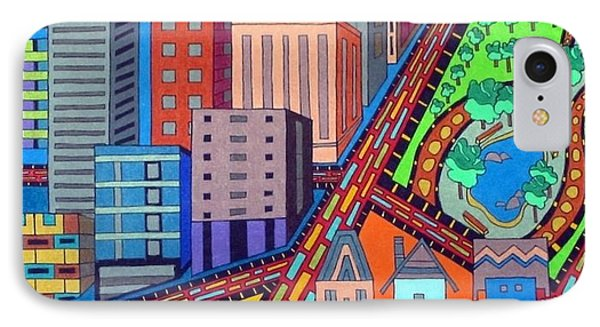Cityscape IPhone Case by Molly Williams