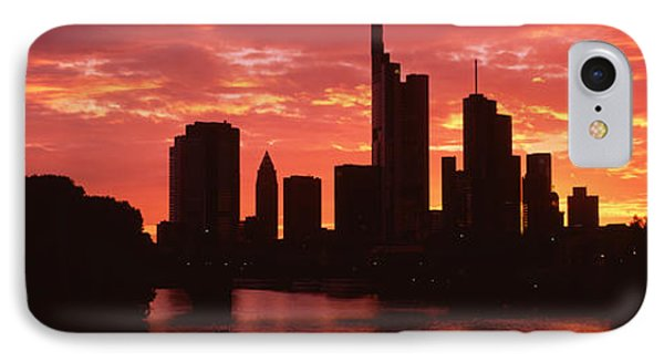 Cityscape, Rhine River, Frankfurt IPhone Case by Panoramic Images