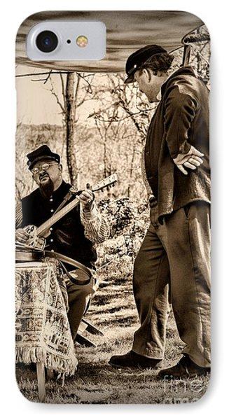 Civil War Banjo Player Phone Case by Paul Ward