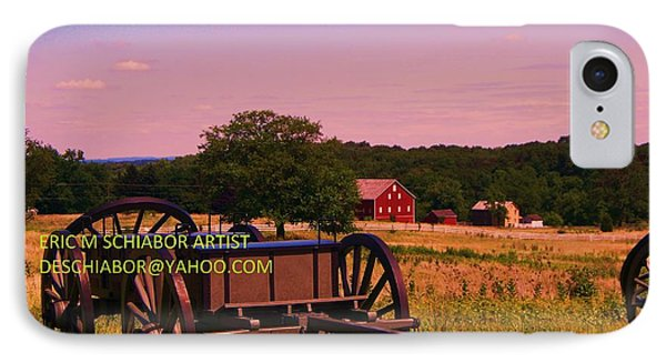 Civil War Caisson At Gettysburg IPhone Case by Eric  Schiabor