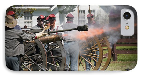 IPhone Case featuring the photograph Civil War Cannon Fire by Ray Devlin
