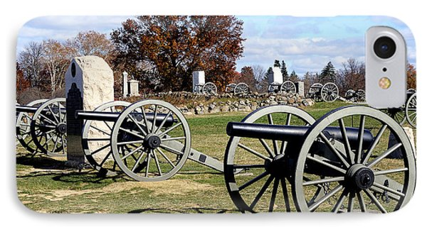 Civil War Cannons At Gettysburg National Battlefield IPhone Case by Brendan Reals