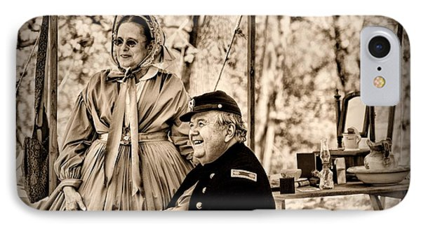 Civil War Officer And Wife Phone Case by Paul Ward