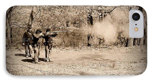 Civil War Soldiers Firing Muskets Phone Case by Paul Ward