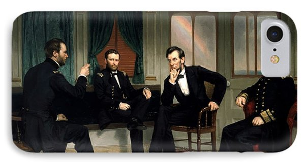 Abraham Lincoln iPhone 7 Case - Civil War Union Leaders -- The Peacemakers by War Is Hell Store