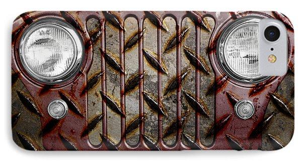 Civilian Jeep- Maroon IPhone Case by Luke Moore