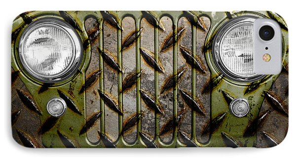 Civilian Jeep- Olive Green Phone Case by Luke Moore