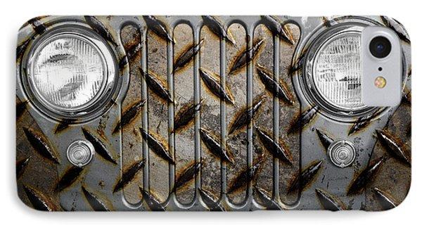 Civilian Jeep- Steel Gray IPhone Case by Luke Moore