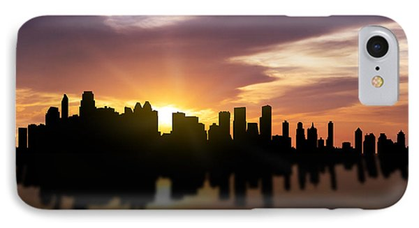 Calgary Sunset Skyline  IPhone Case by Aged Pixel